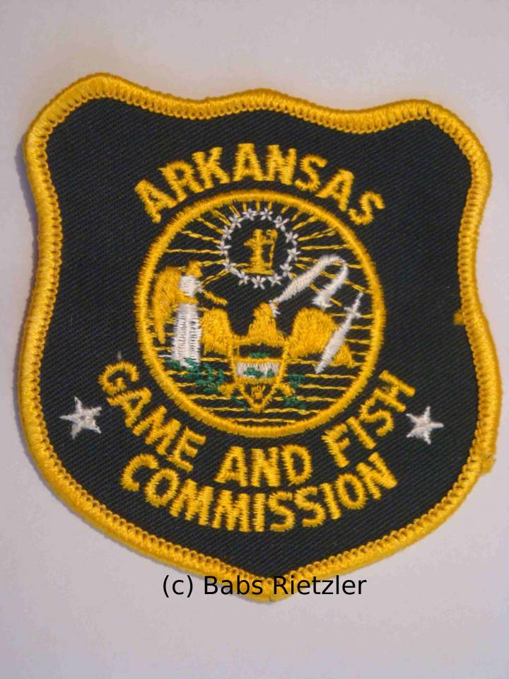 Sheriff and police patches for Arkansas game and fish commission